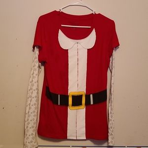 Wound up Santa's helper lg slvs shirt